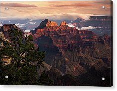 Sunset From The Grand Canyon Lodge Acrylic Print by Adam Schallau