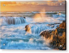 Sunset Fury Acrylic Print by Darren White