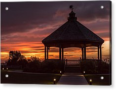 Sunset Gazebo Lavallette New Jersey Acrylic Print