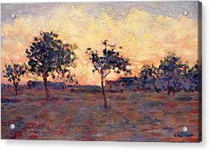 Sunset Acrylic Print by Georges Pierre Seurat