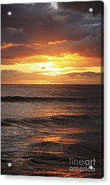 Sunset Glimmering On Ocean Acrylic Print by Brandon Tabiolo - Printscapes
