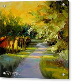 Acrylic Print featuring the painting Sunset Glow by Chris Brandley