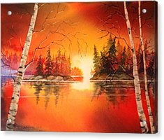 Sunset Glow Acrylic Print by Marilyn Jacobson