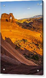 Sunset Glow On Delicate Arch Acrylic Print