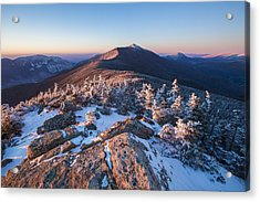 Sunset Glow On Franconia Ridge Acrylic Print