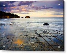 Sunset Grid Acrylic Print by Mike  Dawson