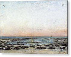 Sunset Acrylic Print by Gustave Courbet