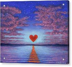 Sunset Heart 02 Acrylic Print
