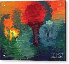 Acrylic Print featuring the painting Sunset I by Ania M Milo