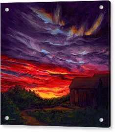 Sunset II Acrylic Print by Elaine Farmer
