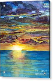 Acrylic Print featuring the painting Sunset II by Suzette Kallen