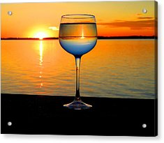 Sunset In A Glass Acrylic Print