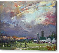 Sunset In A Troubled Weather Acrylic Print by Ylli Haruni