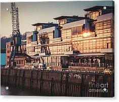 Sunset In Altona Hamburg Acrylic Print