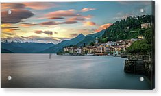 Sunset In Bellagio On Lake Como Acrylic Print