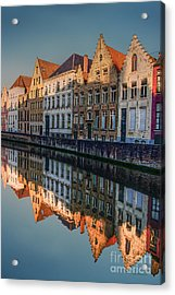 Sunset In Bruges Acrylic Print