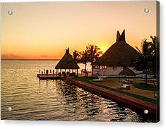 Sunset In Cancun Acrylic Print