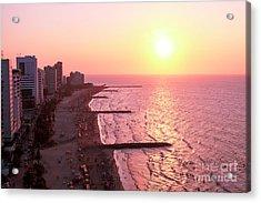 Sunset In Cartagen Acrylic Print by John Rizzuto