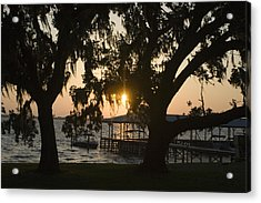 Sunset In Central Florida Acrylic Print by Christopher Purcell
