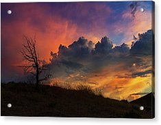 Sunset In Central Oregon Acrylic Print by David Gn