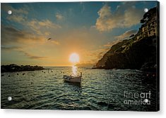 Sunset In Cinque Terre Acrylic Print by Alex Dudley