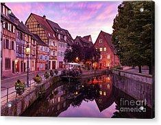 Sunset In Colmar Acrylic Print by Brian Jannsen