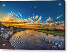 Sunset In Dresden Acrylic Print