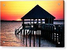 Sunset In Duck Acrylic Print