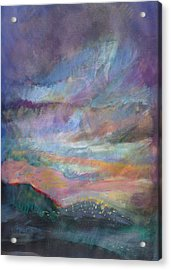 Sunset In Efrat Acrylic Print by Bryna La