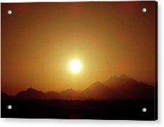 Sunset In Egypt 7 Acrylic Print