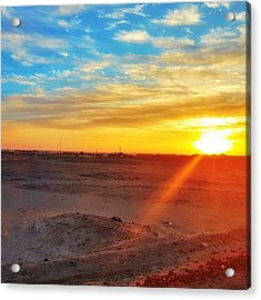 Sunset In Egypt Acrylic Print