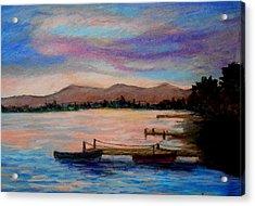 Sunset In Evia Acrylic Print