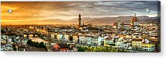 Sunset In Florence Acrylic Print