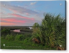 D32a-89 Sunset In Crystal River, Florida Photo Acrylic Print