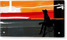 Sunset In Hamptons Acrylic Print by Naxart Studio