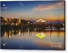 Sunset In Hoi An Vietnam Southeast Asia Acrylic Print