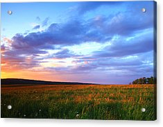 Sunset In Ithaca South Hill Acrylic Print by Paul Ge