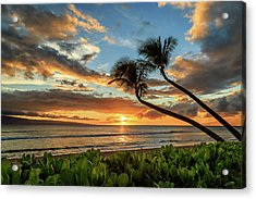 Sunset In Kaanapali Acrylic Print