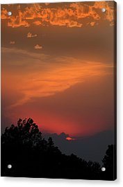 Sunset In Kansas Acrylic Print