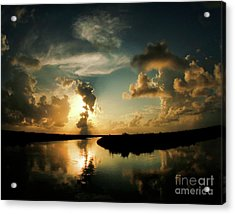 Sunset In Lacombe, La Acrylic Print