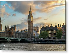 Sunset In London Westminster Acrylic Print