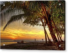 Sunset In Mal Pais Acrylic Print