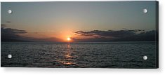Sunset In Maui Acrylic Print by Bj Hodges