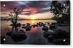 Sunset In Merritt Island - Florida, United States - Seascape Photography Acrylic Print by Giuseppe Milo