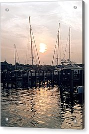 Sunset In Nantucket Acrylic Print