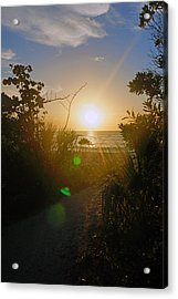 Sunset In Naples At Barefoot Beach Acrylic Print