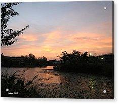 Sunset In Nara 2  By Taikan Acrylic Print