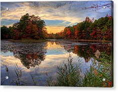 Lake Sunset In New Jersey Acrylic Print