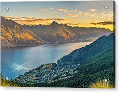 Sunset In New Zealand Acrylic Print