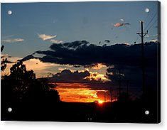 Acrylic Print featuring the photograph Sunset In Oil Santa Fe New Mexico by Diana Mary Sharpton